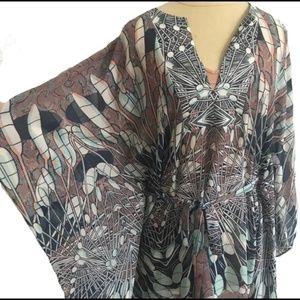 Boho Flowy Dress with Slip
